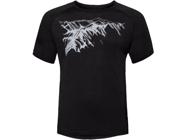 Odlo BL Concord Crew Neck T-shirt Heren, black-mountain print ss19